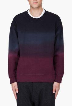 Street style tendance : Raf Simons  Black Dip Dyed Combo Sweater | SSENSE