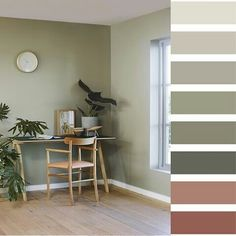 Naturlig, grønt og vakkert med vegger i LADY Wonderwall 8252 Green Harmony. Green Rooms, Bedroom Green, Bedroom Colors, Green Walls, Decor Room, Bedroom Decor, Home Decor, Feng Shui, Color Inspiration