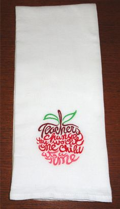 Teachers change the world one child at a time Machine Embroidery Flour Sack Towel Teacher Appreciation Gift on Etsy, $6.50