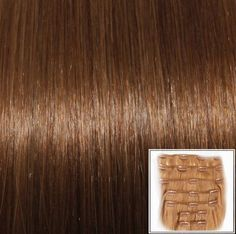 "Clip In Extensions 20"" Hazelnut Brown #06 Full 110 Gram Remy Human Hair Wefts"