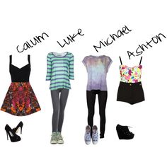 I can see myself wearing the Luke and Michael ones, though heels and skirts are not at all my thing...