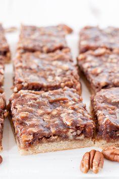 Vegan Paleo Pecan Pie Bars - Allergy Free Alaska