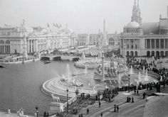 "The ""White City"" Chicago Worlds Fair 1893 - obsessed with the 1893 fair. Wish all those old buildings were still standing."