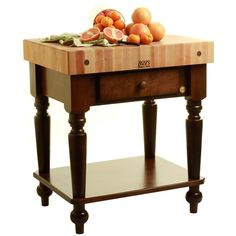 John Boos Cucina Rustica Kitchen Island With Two Drawers 4 Thick Maple Top