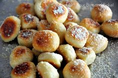 PRETZEL BITES - Parmesan or Cinnamon and Sugar with glaze.