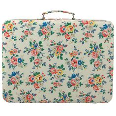 Kingswood Rose Kids Large Fabric Covered Suitcase