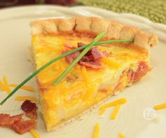 Perfectly Potato Cheddar Quiche Recipe | Tastefully Simple | Breakfast in bed