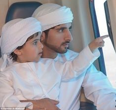 Travelling in style: Mohammed bin Ahmed Jaber Al Harbi with 'best friend' Sheikh Hamdan of...