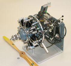 """Maxse T-Seven"" 7-cylinder Radial Model Airplane Engine"
