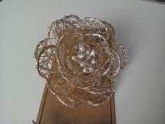Rose brooch. Suitable for wedding wear