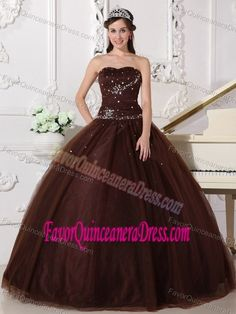 3982b5af0bf5 Buy beautiful lace up long tulle sweet sixteen dresses in brown with  rhinestones from brown quinceanera dresses collection, sweetheart neckline ball  gowns ...
