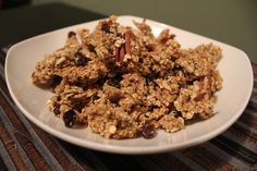 Yummy Maple Pecan Granola with Raisins from The Eat-Clean Diet® Vegetarian Cookbook