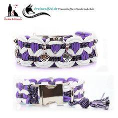 Wunderschöne Paracord Hundehalsbänder mit Klickverschluss, Zugstopp oder Biothane - Biothane ist ein starkes High-Tech-Polyestergewebe mit einer Polymer...
