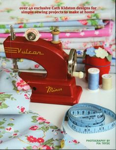 Sweet sewing machine. I want one.