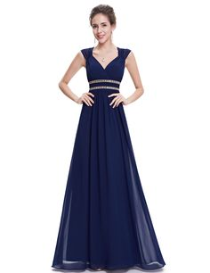 Free 2-day shipping. Buy Ever-Pretty Womens Plus Size Chiffon Long Maxi Wedding Party Bridesmaid Dresses for Women 86972 Navy Blue US18 at Walmart.com