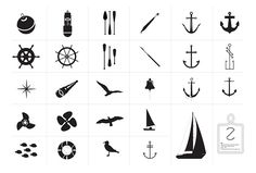 Kostenloses Nautical Vector Pack mit 32 Icons