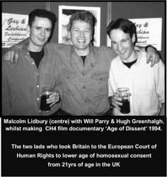 The ICT newsletter became a campaigning tool. 1994 Malcolm organised a gay rally in Cornwall on the 'Equalising of the age of consent'.  It was filmed as part of the CH4 documentary 'Age of Dissent' by Will Parry & Hugh Greenhalgh.  Two lads who in conjunction with 'STONEWALL' had challenged the homophobic prejudice of UK law towards gay age of sexual consent  which was 21yrs for gay/bi men. #LGBT http://www.lgbthistorycornwall.blogspot.com