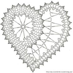 Not in English but lots of crochet charts and pictures of hearts on this site.