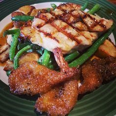 Honey Pepper Chicken & Shrimp.