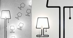 Wallsticker/Lampe Tall