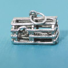 Sterling Silver Lobster Trap and Lobster by StarfishCollectibles, $12.00