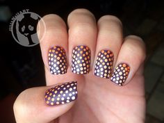 Love Julia's matte version of one of my dotticures!  Check out her blog here - http://juliabergamin.tumblr.com/post/99129986043/day-2-matte-doticure-maybelline-plush-plum