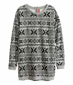 Printed sweater. H&M. #WARMINHM