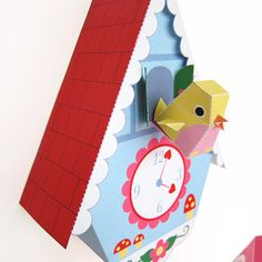 Cuckoo Clock Bird House and Bird Cage Printable by FantasticToys, $6.00