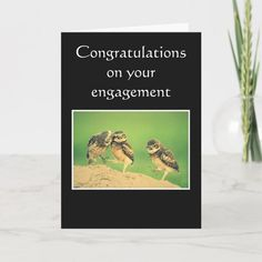 congratulations on your engagement card - tap/click to get yours right now! #card  #wildlife #birds #alls #funny #humor Gifts For Dad, Great Gifts, Engagement Cards, Getting Engaged, Custom Greeting Cards, Funny Humor, Thoughtful Gifts, Smudging, Paper Texture