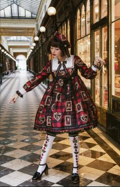 """lapin-dor: """"Angelic Pretty 2017 Autumn/Winter Collection - Holiday Collection """" Tamashiro Tina 玉城 ティナ for Angelic Pretty 2017 Autumn/Winter Collection - Holiday Collection - Galerie Véro-Dodat, Paris - France - 2017"""