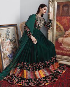 Traditional Fashion, Traditional Outfits, Pakistani Wedding Outfits, Wedding Dresses, Lehnga Dress, Lehenga Choli, Afghani Clothes, Afghan Dresses, Fashion 2020