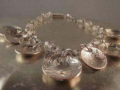 Silver Bracelet  Vintage  Mixed Metal  Fashion by mixedmetalmimi, $65.00