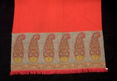 Shawl - Wool twill with wool fillover. 1800-1850