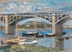 The Bridge at Argenteuil (Claude Monet, 1874, Neue Pinakothek, München)