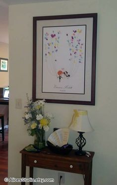 Custom thumbprint guest book poster: http://www.etsy.com/listing/100818977 Guest Book Ideas for Wedding  Thanks Richelle for the beautiful photo. :)