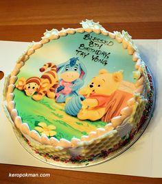 Bolo Aniversário Ursinho Pooh (puff)