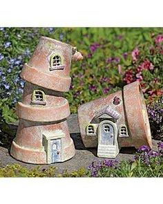 Pottery elf house