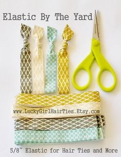 Elastic by the Yard Diy Hair Ties Headbands by LuckyGirlHairTies, $3.95