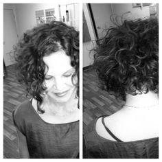 curly hair bob cut - Google Search