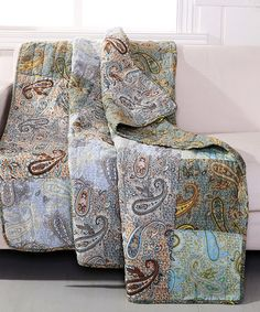 Loving this Paisley Dream Reversible Throw on #zulily! #zulilyfinds