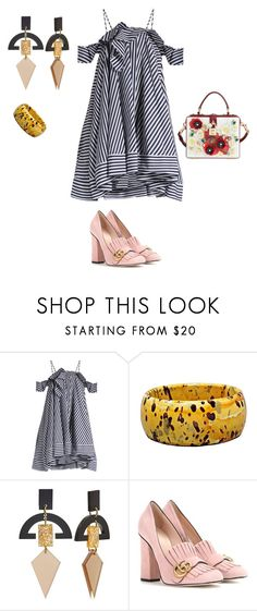 """""""Untitled #159"""" by mariela-hayoon on Polyvore featuring MSGM, Toolally, Gucci and Dolce&Gabbana"""