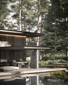 The cottage lighting system is calibrated with the natural sunlight of the forest.