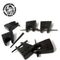 Sold in pairs. Organic Plugs, Wood Plugs, Wood Square, Ear Gauges, Dark Wood, Pairs, Dark Hardwood