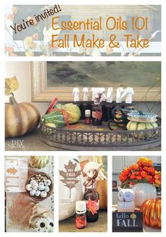Fall Essential Oils Make & Take Ideas Part 1 @diyshowoff