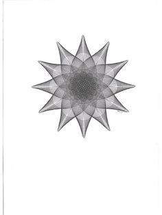 Original ink Drawing Modern Art Flower Black by Mary Wagner ParametricDrawing, $36.00