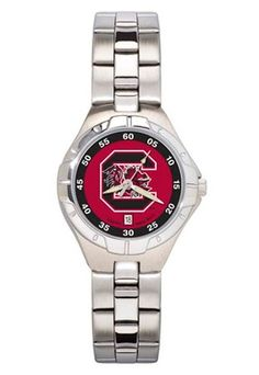 South Carolina Gamecocks Woman's Pro II Watch with Stainless Steel Bracelet