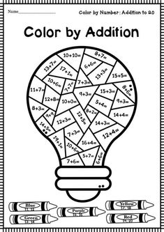 Coloring Worksheets For Kindergarten, Christmas Math Worksheets, Number Worksheets, Kindergarten Math Worksheets, Math Resources, Math Activities, Math Pages, First Grade Math, Math For Kids