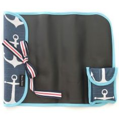 Anchors Away Imagidoodle Chalkfolio...on-the-go chalk mat that rolls and ties for travel and easy entertainment! Includes chalk. $24 www.bellatunno.com