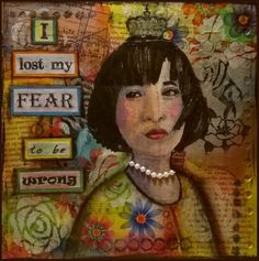 Mixed Media - Art Journal 2: I lost my fear to be wrong - v. skonea 2016