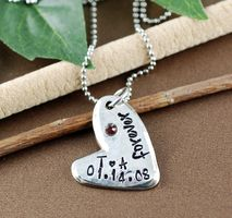 Lovable Keepsake Gifts, a trusted online store for personalized jewelry. Get the perfect gift for your loved ones! Hand Stamped Jewelry, Personalized Jewelry, Pewter, Dog Tag Necklace, Anniversary, Heart, Gifts, Personalised Jewellery, Tin